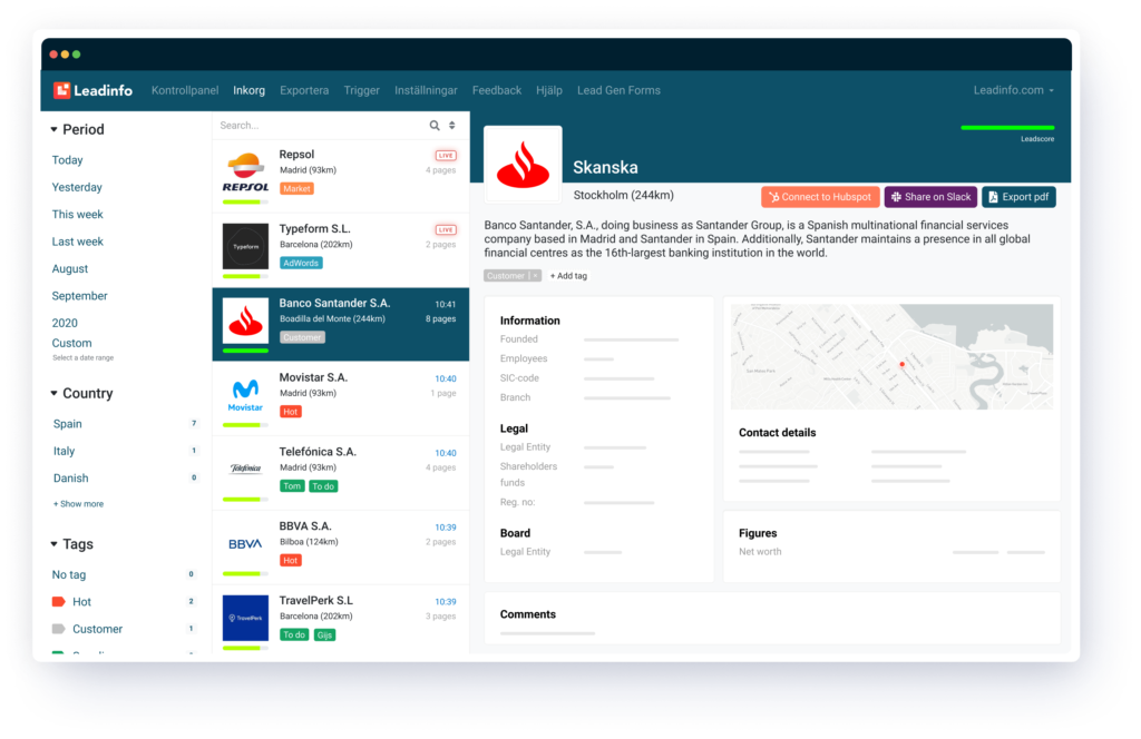 Leadinfo Portal SP